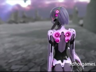 FUTURE anime 3D sex. Guy cum in robot