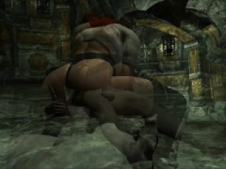 Elena Rides a Dark Elf in Skyrim 3D Animated Porn
