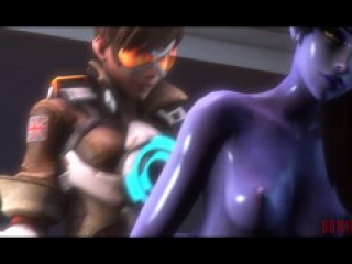 Erection [Futa Tracer x Futa Widowmaker Overwatch animation]
