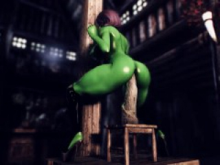 Manzana Enjoy Dildo Tower | Komotor Animations | Skyrim Porn
