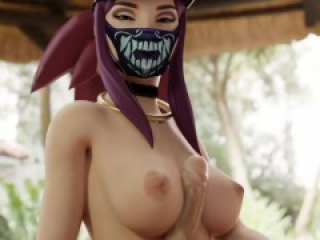 Akali, Ahri - League of Legends 4k Porn